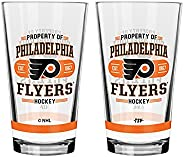 NHL Philadelphia Flyers Property of Mixing Glass, 2-Pack
