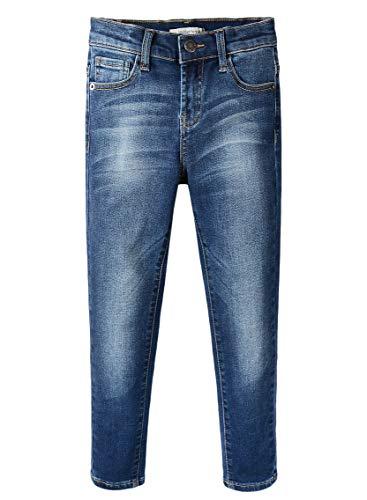 ZLZ Boy's Skinny Fit Stretch Jeans Pants with Adjustable Waist (Blue, 5)