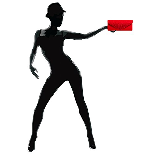 Caspar Soirée Avec Élégante En D'envloppe Ta422 Strass Femme Rouge De Pour Pochette Forme sac clutch UrwxUZqTfW