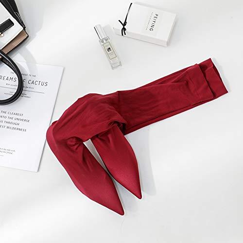 Shukun Stiefeletten Kniehohe Stiefel mit hohem Absatz Weibliche elastische Spitzenstiefel
