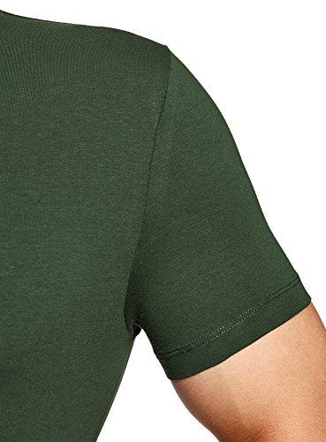 shirt Verde Oodji Uomo T 6900n Basic Ultra Aderente wwUF4