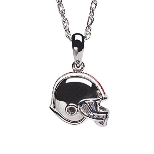 Ohio State Football Pendant - Ohio State Buckeyes Football Helmet Charm Pendant with Chain