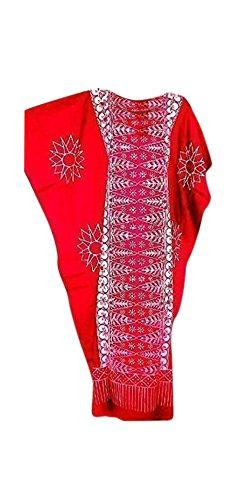Cool Kaftans - Neu Malaya Baumwolle Kaftan Kleid Übergröße Schwarz Violett Rot