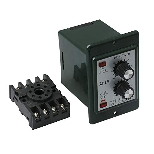 - Mxfans DC 12V Delay Timer Repeat Cycle Time Relay Range 0-6s Panel Installation