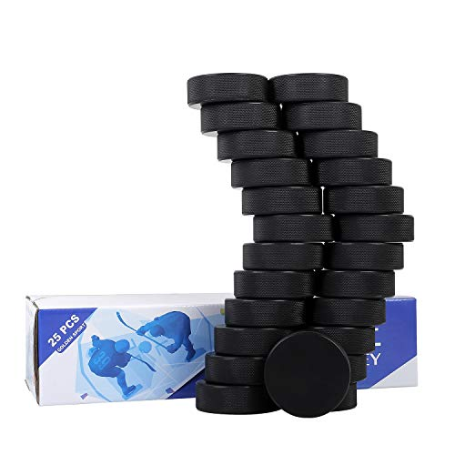 Golden Sport Ice Hockey Pucks, Official Regulation, for Practicing and Classic Training, Diameter 3