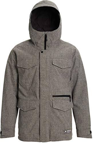 NEW Burton Men's Covert Jacket Improved with Therma Media Pocket, Handwarmer Pockets, Breathable Lining