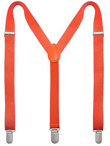 Man of Men - Men's Fashion Suspenders - The Glitter Collection (Orange)