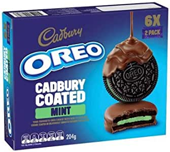 Oreo Oreo Con chocolate menta Cadbury 204gm: Amazon.es ...