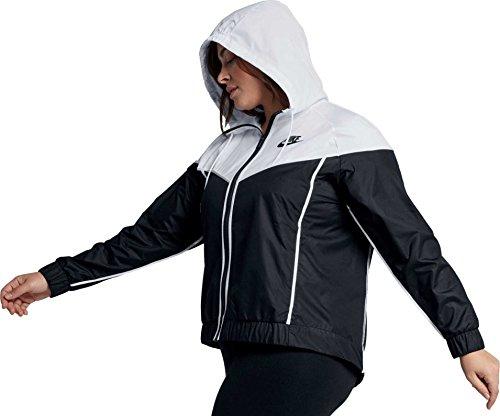 Nike Women's Plus Size Sportswear Windrunner Jacket (Black/White, 2X) by Nike (Image #2)