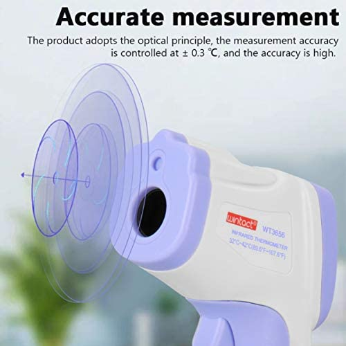 LONGSPEED Thermom/ètre infrarouge Outil de temp/érature frontale sans contact Thermom/ètre de haute pr/écision Thermom/ètre industriel