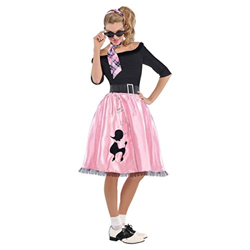 AMSCAN Sock Hop Sweetie 50's Halloween Costume for Women, Small, with Included ()