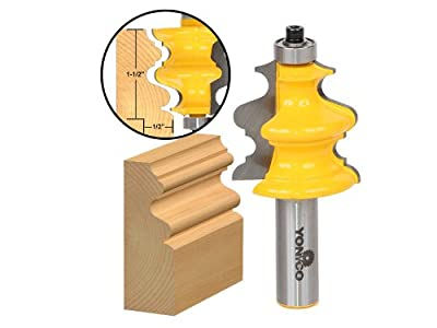 Yonico 16133 Architectural Molding Router Bit 1/2-Inch Shank by Precision Bits.com