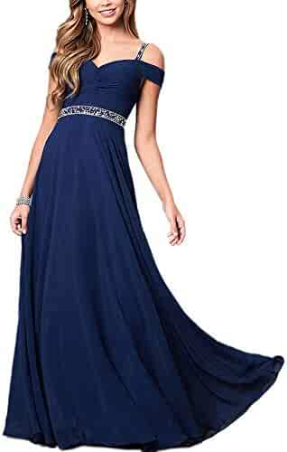 4b27b5ea4a Aofur New Lace Long Chiffon Formal Evening Bridesmaid Dresses Maxi Party  Ball Prom Gown Dress Plus