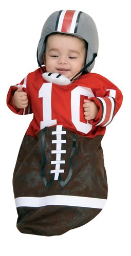 Newborn Football Bunting, Newborn Ages 0-9 (Football Costumes For Babies)
