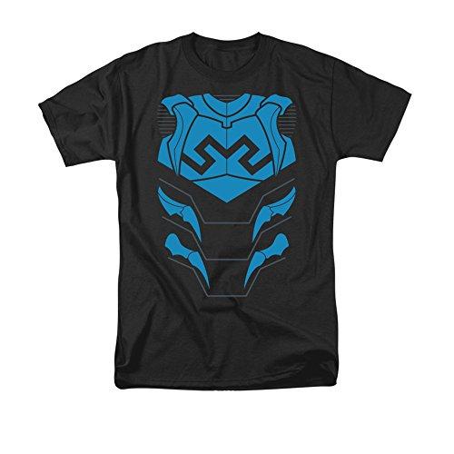Blue Lantern Flash Costume (Justice League Of America DC Comics Blue Beetle Armor Costume Adult T-Shirt)