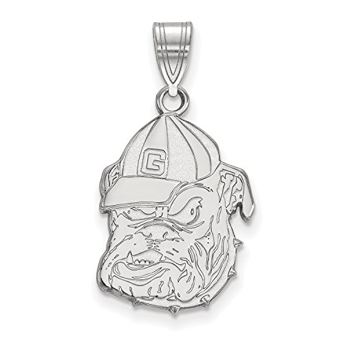 (University of Georgia Bulldogs Pendant Charm (sterling silver, extra small))