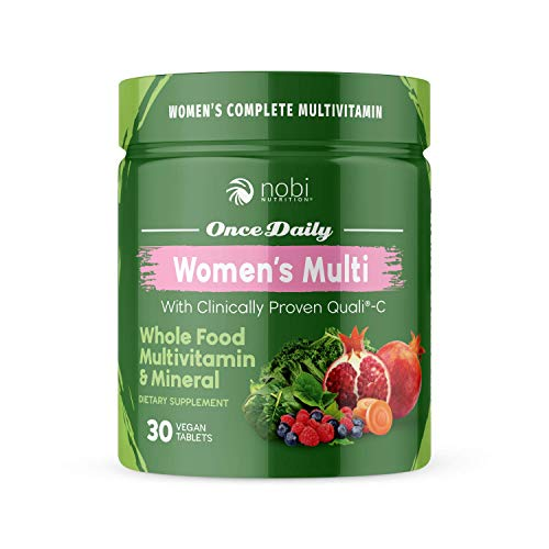 One Daily Multivitamin for Women – with Whole Food Vitamins – Immune Support with Clinically Proven Vitamin C, Vitamin D, Zinc – Premium Vegan Womens Vitamins – Natural Minerals & Extracts