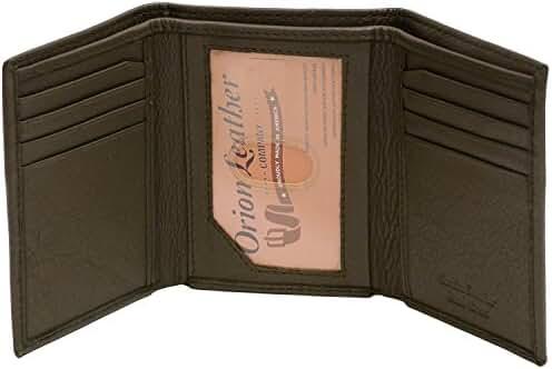Paul&Taylor Men Trifold Wallet Card Slot In Cash Pocket Genuine Leather