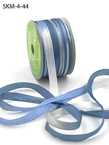 Variegated 100% Silk Ribbon 1/4