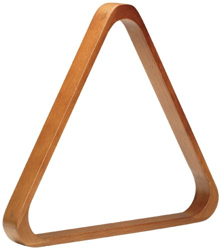(Pro Series TR8-OA Doweled Wooden Billiard Ball 8-Ball Triangle Rack, Oak)