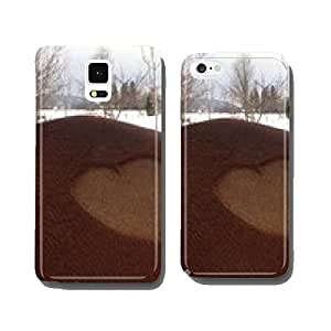 Horse with heart cell phone cover case Samsung S5