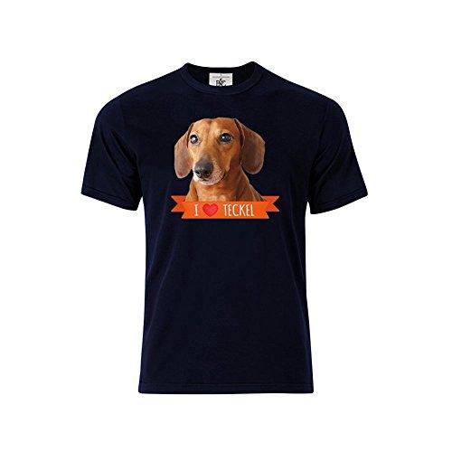 Mygoodprice - Camiseta - para hombre Bleu (Navy)