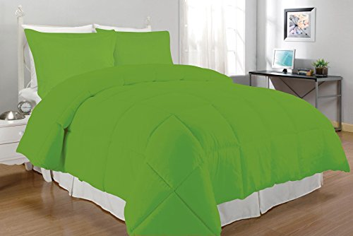 South Bay Down Alternative Comforter Set, Twin, Lime