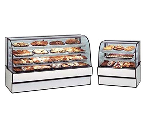 Federal Industries CGD3648 Curved Glass Non-Refrigerated Bakery Case Bakery Display Case Refrigerated Curved