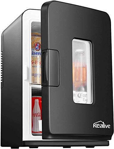 Mini Fridge Portable Compact Personal Fridge Cooler & Warmer, 15 Liter Mini Refrigerator with AC/DC Power - Great for Bedroom, Office, Car, Dorm - Portable Makeup Skincare Fridge