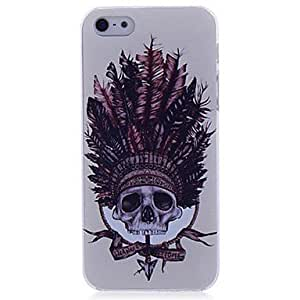 YULIN Lureme Indian Skull Pattern Hard Case for iPhone 5/5S