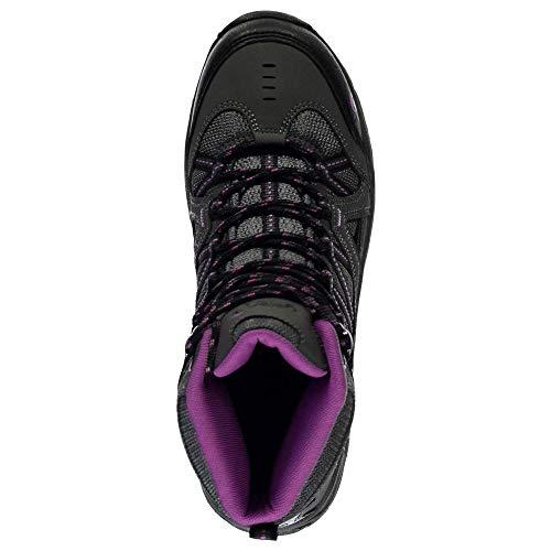 Women Hiking GELERT Charcoal Boots Mid Purple Ottawa dFnxw7t