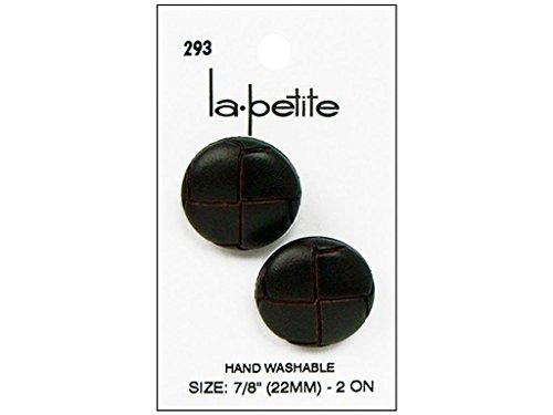 - La Petite Brown Imitation Leather Shank Button