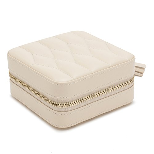 WOLF 329953 Caroline Zip Travel Case, Ivory