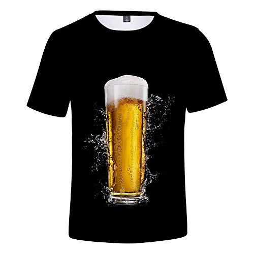 - Men's Beer Festival Blouse Tops,MmNote Round Neck Fashion Breathable Cool Quick Classic Fit Short Sleeve Black