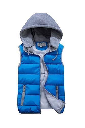 Blu Cordoncino Incappucciati Occasionale Donne Fasumava Le Vest Senza Giacche Puffer Invernali Maniche 41PAn6qw