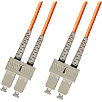 50M Multimode Duplex Fiber Optic Cable (62.5/125) - SC to SC