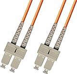 1 Meter OM1 Multimode Duplex Fiber Optic Cable (62.5/125) - SC to SC - Orange