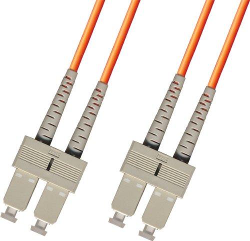 1 Meter OM1 Multimode Duplex Fiber Optic Cable (62.5/125) - SC to SC - Orange by Ultra Spec Cables