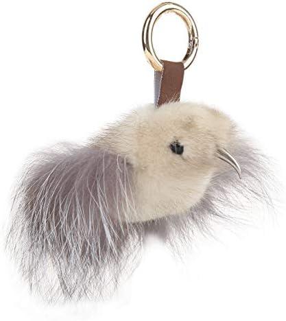 梵姿雅 キーホルダー かわいい 鳥 バッグチャーム ファー