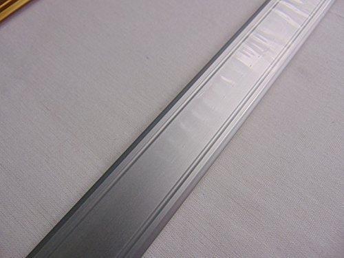 GedoTec® Übergangsprofil selbstklebend Aluminium SUPERFLACH Übergangsschiene Bodenprofil | Breite 30 mm | 3 Farben | 100 cm oder 200 cm | Markenqualität für Ihren Wohnbereich (Alu silber eloxiert, 100 cm)