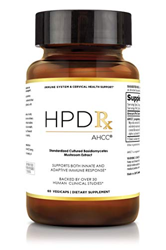 HPD Rx AHCC - Premium High Potency - 750mg of AHCC per Capsule - Promotes Immune System Support, Reproductive Health for Men, Cervical Health for Women - 60 Veggie Capsules - Natural HPV Response