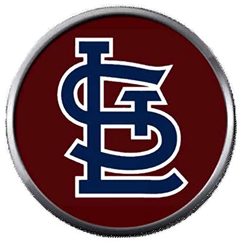 (Burgundy STL St Louis Cardinals MLB Baseball Logo 18MM - 20MM Snap Jewelry Charm)