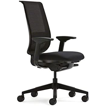 steelcase think office chair. Steelcase Black Mesh Back Reply Chair With Fabric Seat Think Office T