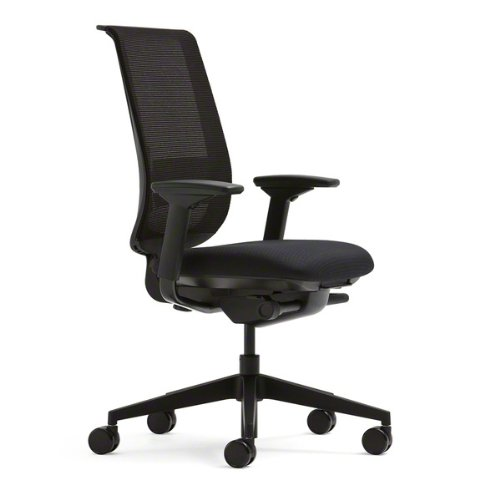 Steelcase Black Mesh Back Reply Chair with Black Fabric, used for sale  Delivered anywhere in USA