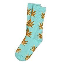 Spring Fever Unisex Marijuana Weed Leaf High Crew Socks