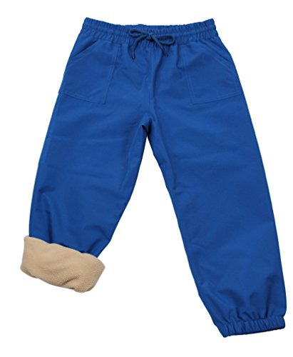 (JAN & JUL Kids Water-Proof Fleece-Lined Rain Pants (Fleece-Lined: Blue, 5T))