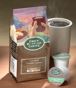 Green Mountain Caramel Vanilla Cream, Ground Coffee, 12oz. Bag (Pack of 4)