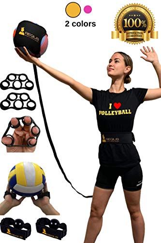 Regius Volleyball Training Equipment 3.0 - Premium Solo Trainer, Perfect for Beginners Practicing Serving, Setting and Spiking, Great Gift Idea - Yellow