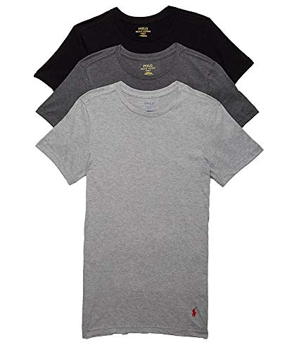 Polo Ralph Lauren Men's Classic Fit w/Wicking 3-Pack Crews Andover Heather/Madison Heather/Black XX-Large
