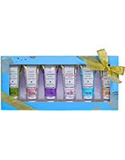 Spa Luxetique Shea Butter Hand Cream Gift Set for Women, 6 Travel Size Nourishing Hand Cream Set with Natural Aloe and Vitamin E, Moisturizing & Hydrating for Dry Hands. Ideal Gift for Women, Her, Birthday, Anniversary Gift Idea